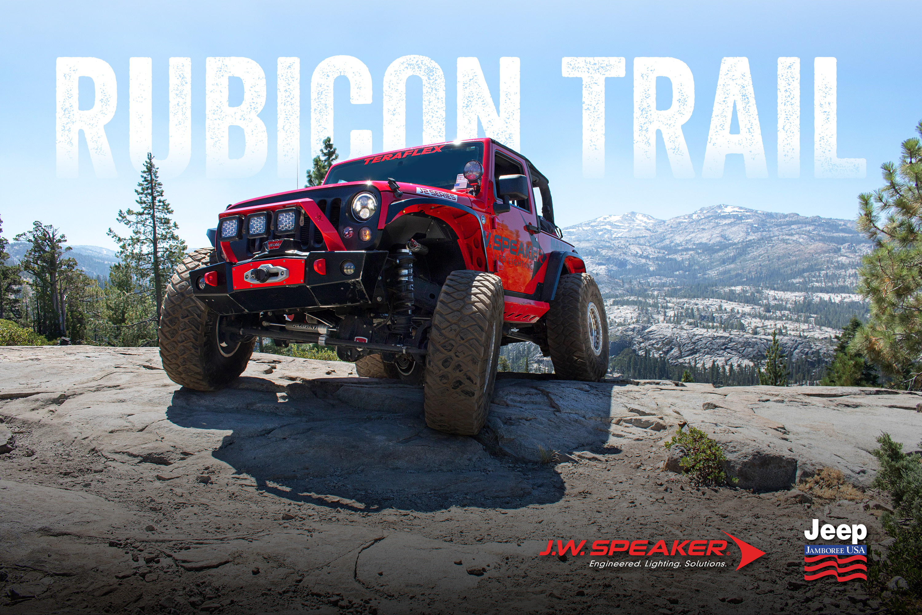 J.W. Speaker Jeep Rubicon Trail