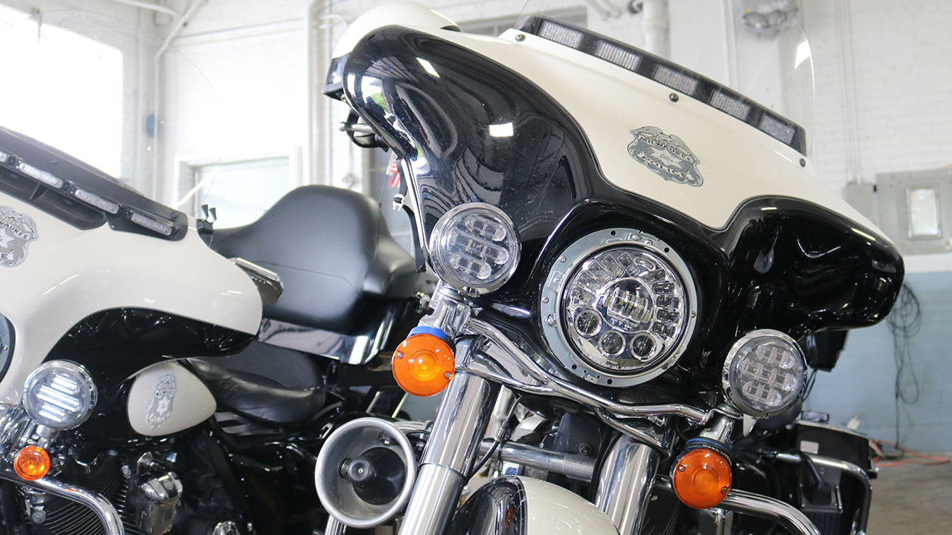 Milwaukee Police Officer's Bikes Equipped with State-of-the-Art LED Headlights from J.W. Speaker