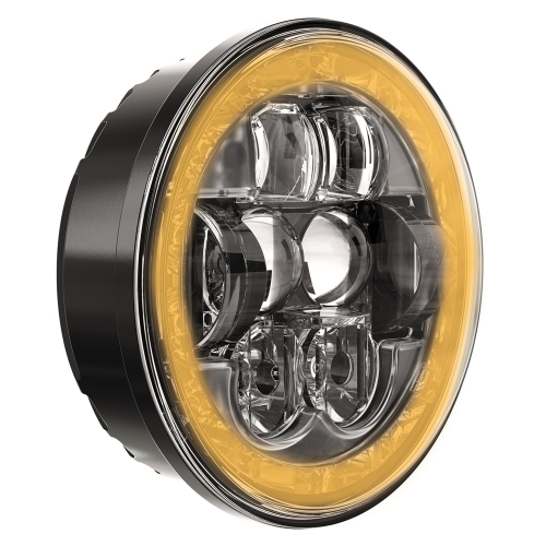 LED Headlight Model 8631 Evolution 3/4 View Front Turn Signal Optics