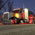 Peterbilt Truck with Model 8910 LED Headlights