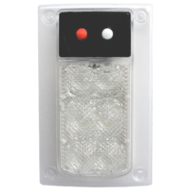 LED Dome Light Model 417 with Inner Optic, Front View