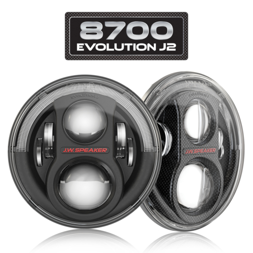 LED Headlight 8700 Evolution J2 Series Combined with Logo