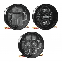 LED Headlight Model 6130 Evolution Combined View