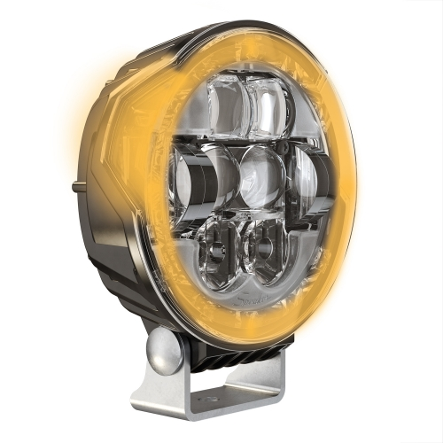LED Headlight Model 8632 Evolution Amber Turn Signal 3/4 View