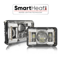 The Model 8800 Evolution 2 Heated LED headlights from J.W. Speaker feature SmartHeat technology to automatically de-ice lneses!