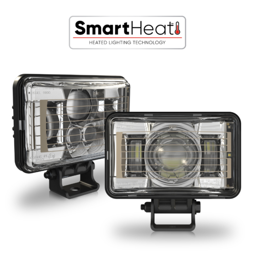 LED Headlight Model 8801 EVO 2 Heated Chrome Combined with SmartHeat Logo