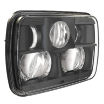LED Headlight Model 8900 EVO 2 Non Heated Black 3/4 View