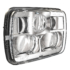 LED Headlight Model 8900 EVO 2 Non Heated Chrome 3/4 View