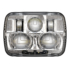 LED Headlight Model 8910 EVO 2 Heated Lens Chrome Front View